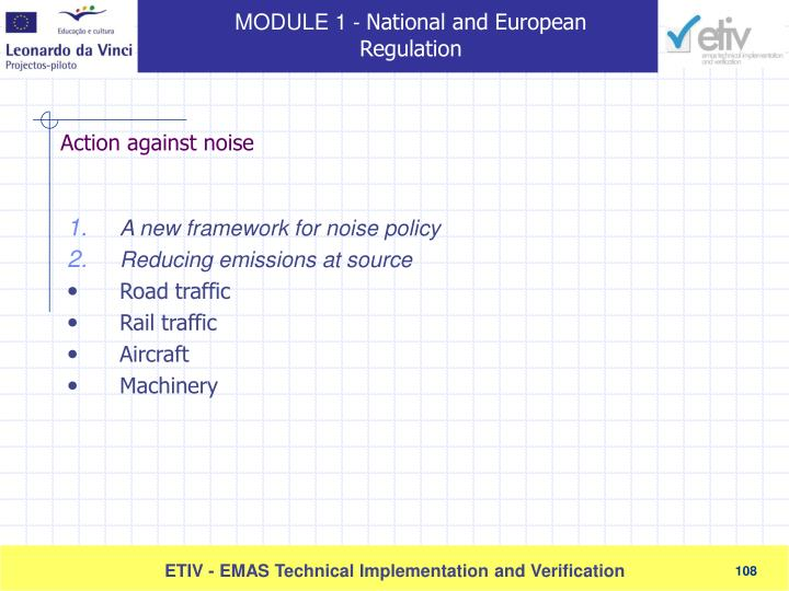 A new framework for noise policy