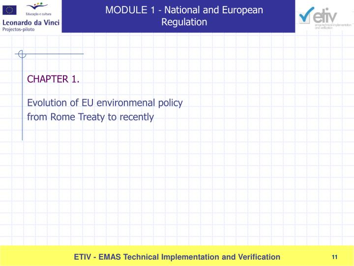 Evolution of EU environmenal policy