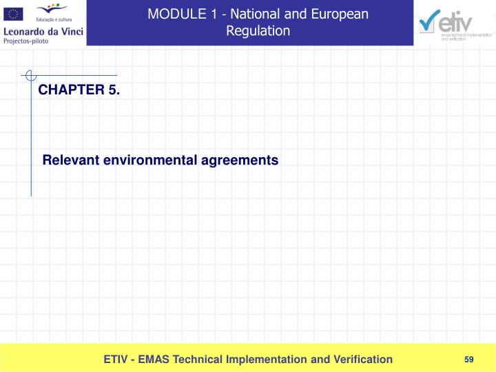 Relevant environmental agreements