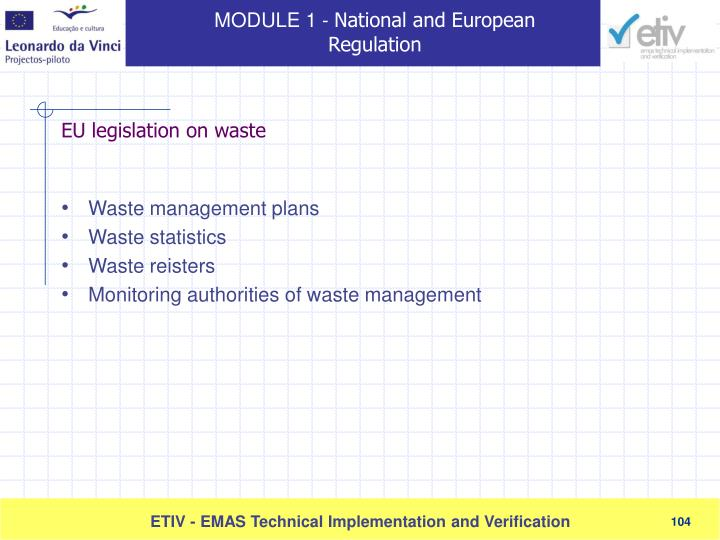Waste management plans