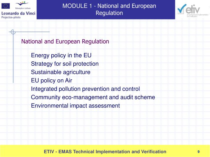 Energy policy in the EU