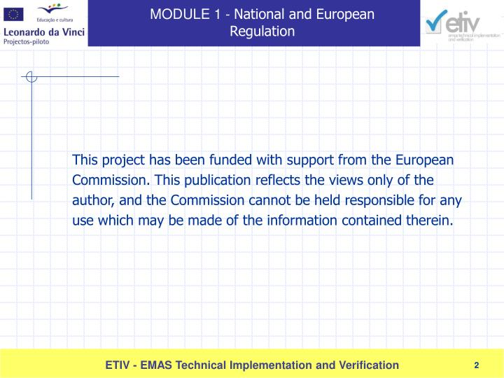 This project has been funded with support from the European Commission. This publication