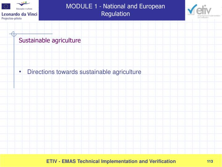 Directions towards sustainable agriculture
