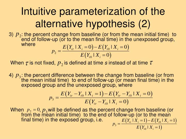 Intuitive parameterization of the alternative hypothesis (2)