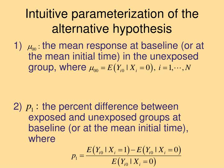 Intuitive parameterization of the alternative hypothesis