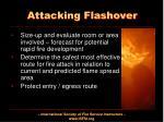 attacking flashover