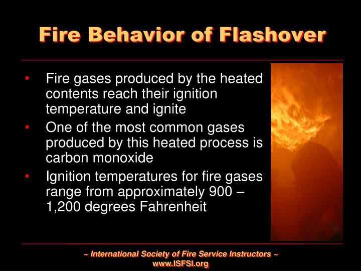 Fire Behavior of Flashover