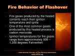 fire behavior of flashover1