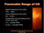 flammable range of co