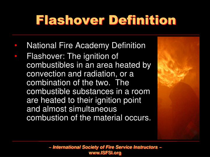 Flashover Definition