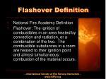 flashover definition1
