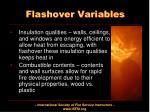 flashover variables1