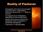 reality of flashover