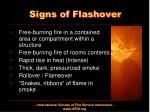 signs of flashover
