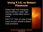 using t i c to detect flashover
