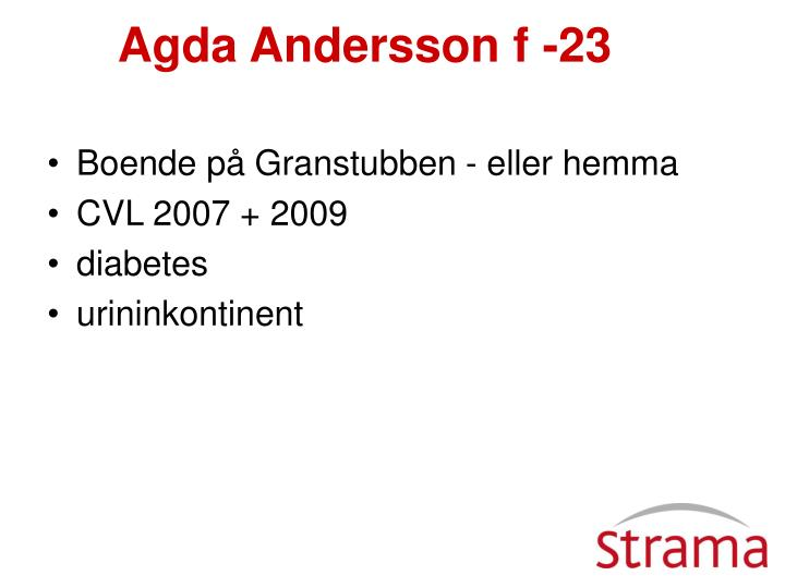 Agda Andersson f -23