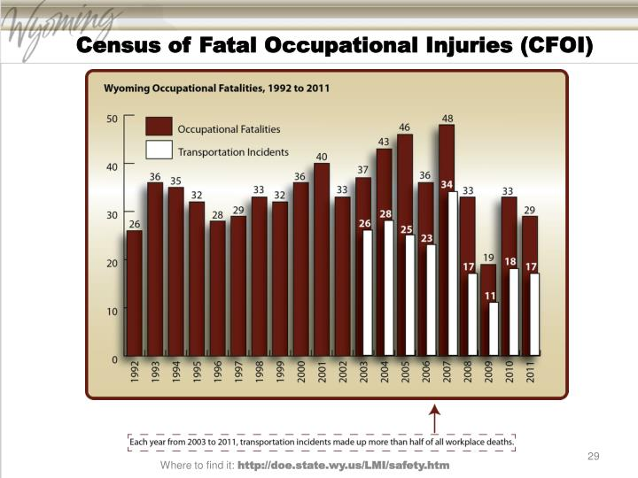 Census of Fatal Occupational Injuries (CFOI)