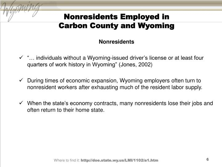 Nonresidents Employed in