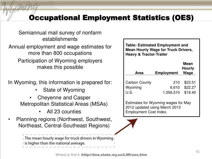 Occupational Employment Statistics (OES)