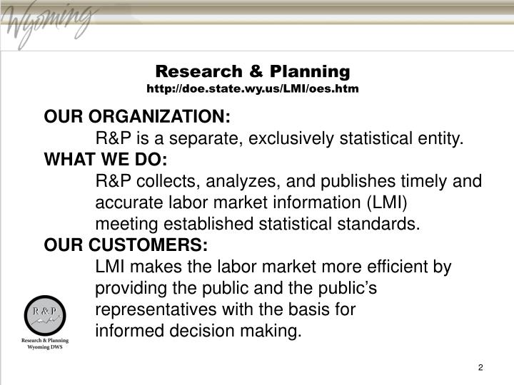 Research & Planning