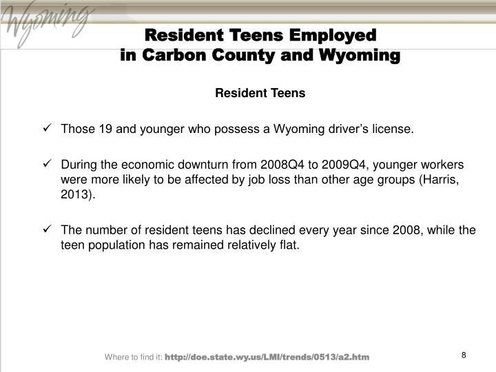 Resident Teens Employed