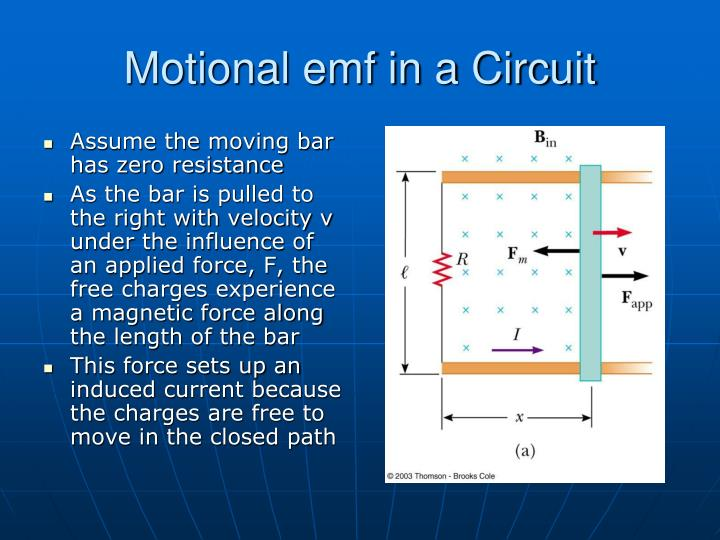 Motional emf in a Circuit