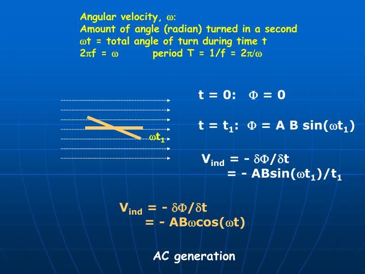 Angular velocity,