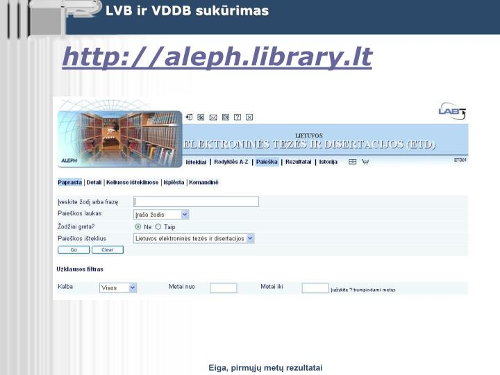 http://aleph.library.lt
