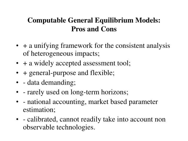 Computable General Equilibrium Models: