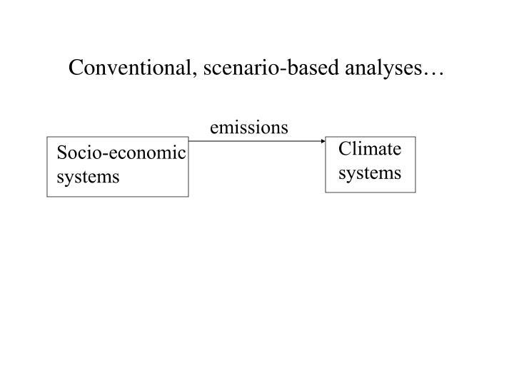 Conventional, scenario-based analyses…