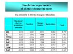 simulation experiments of climate change impacts