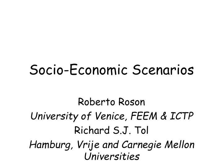 socio economic scenarios