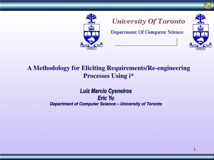 A Methodology for Eliciting Requirements/Re-engineering Processes Using i*