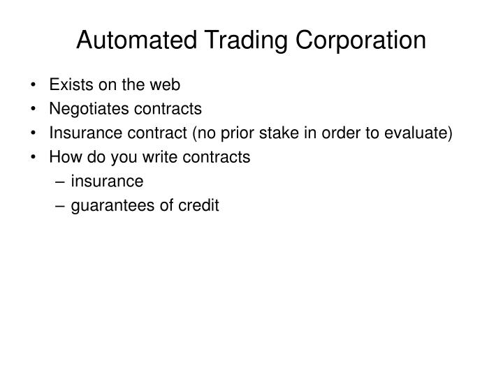 Automated Trading Corporation