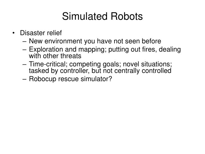 Simulated Robots