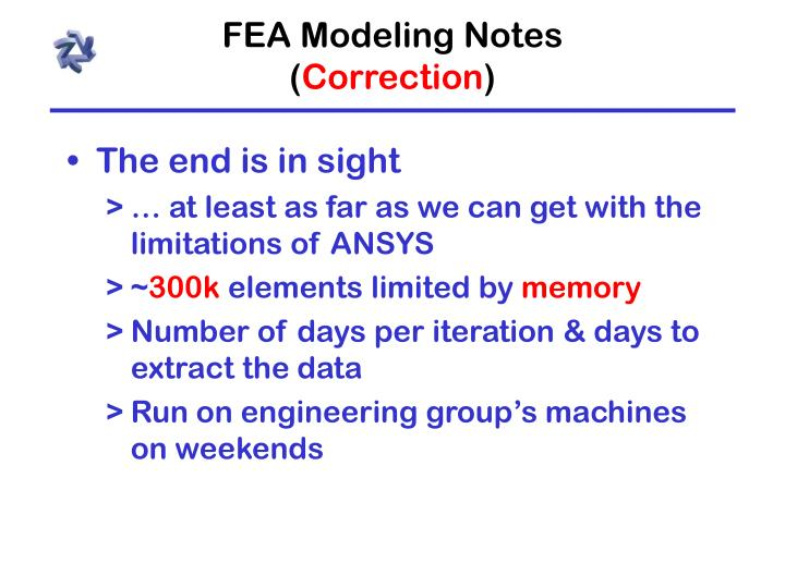 FEA Modeling Notes