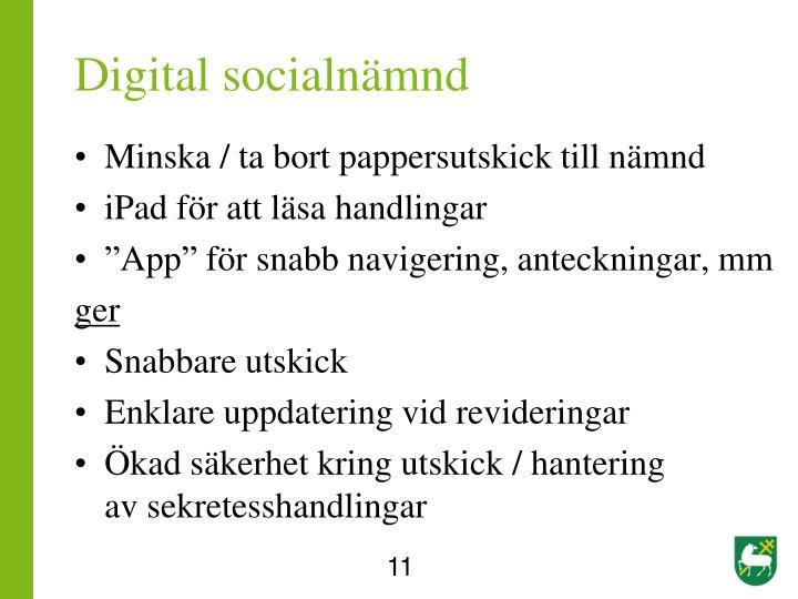 Digital socialnämnd