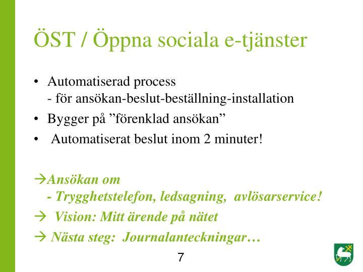 ÖST / Öppna sociala e-tjänster