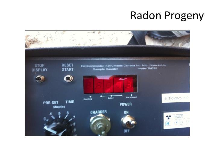 Radon Progeny