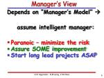 manager s view