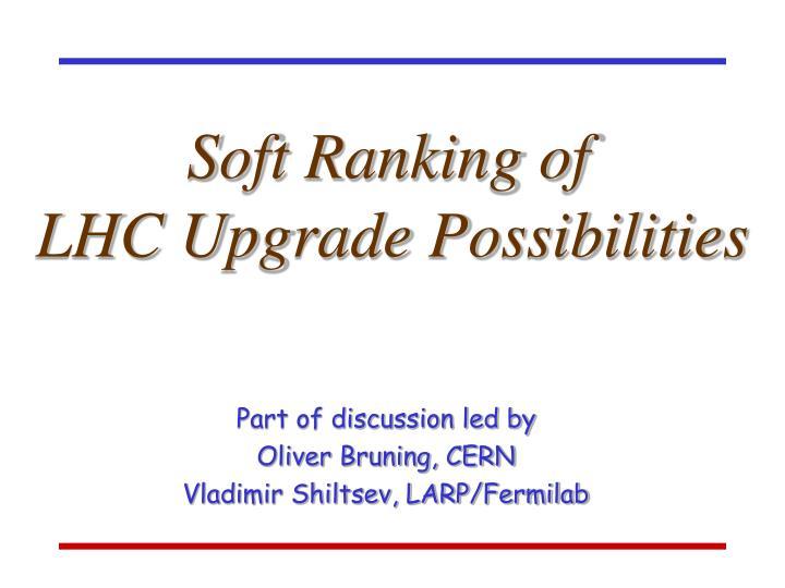 Soft Ranking of