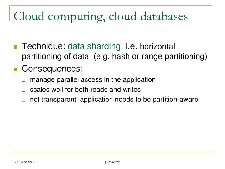Cloud computing, cloud databases