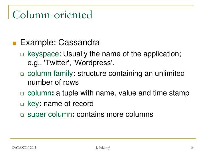 Column-oriented