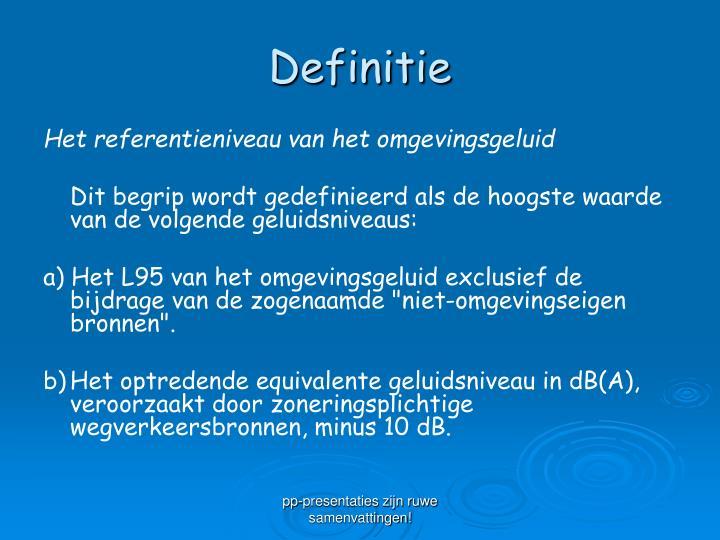 Definitie