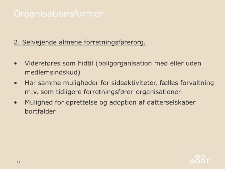 Organisationsformer