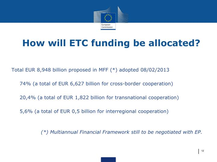 How will ETC funding be allocated?