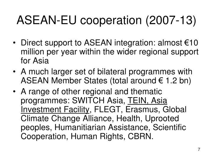 ASEAN-EU cooperation (2007-13)