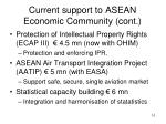 current support to asean economic community cont