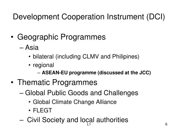 Development Cooperation Instrument (DCI)
