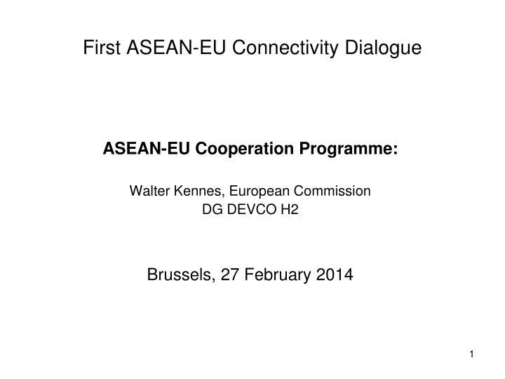 ASEAN-EU Cooperation Programme: